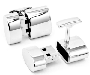 Conceal Secret Information in These USB Cufflinks