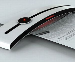 Concept printer Sun Tans paper to get print-out