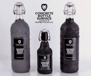 Concrete bottle surface by Remember The Lion