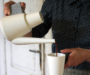 Concrete coffee set by Raili Keiv