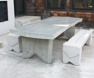 Concrete Dining Table by Nico Yektai
