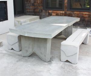 Concrete Dining Table by Nico Yektai