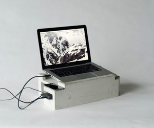 Concrete Laptop Workstation by Greg Papoves