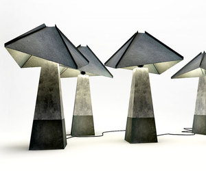 Concrete & Leather Lamp by studio belenko!
