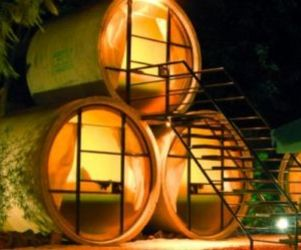 Concrete Tube recycled into a delightful hotel in Mexico