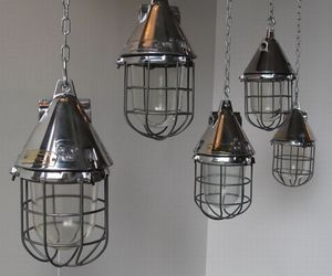 Conical Caged Industrial Pendant Lights
