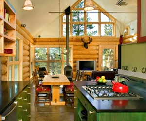 Ward Cabin, Contemporary Colorado Log Cabin