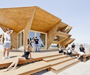 Contemporary design of an eco-friendly pavilion