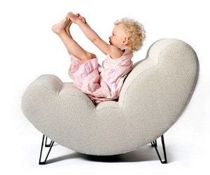 Contemporary Design of Reclining Cloud Chair by Lisa Widen