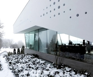 House R Perforated With Glass Cylinders by Bembé Dellinger