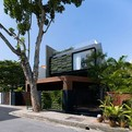 Contemporary Home With Sloping Rooftops and Vertical Gardens