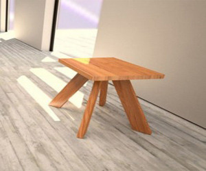 Contemporary Natural Wood Outdoor Furniture