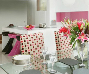 Contemporary Pink Kitchen