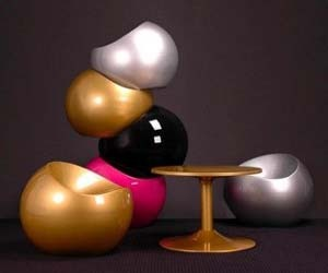 Contemporary Table and the Ball Chairs by Finn Stone