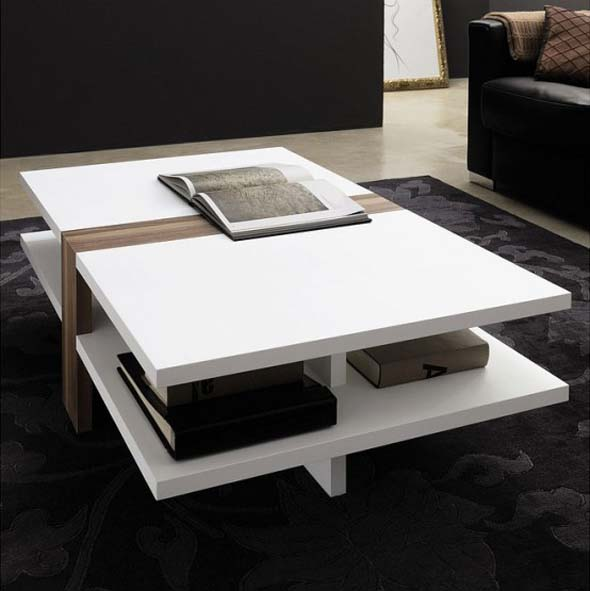 Contemporary Wood Coffee Table From H Lsta