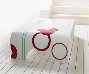Cool and Elegant Corian table by Stuart Melrose