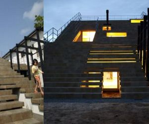 Cool architecture: House with stairs-rooftop!