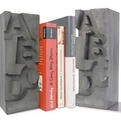 Cool Cast Concrete Bookends For Letter Lovers.