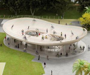 Cool Cycling Pavilion in Hainan, China
