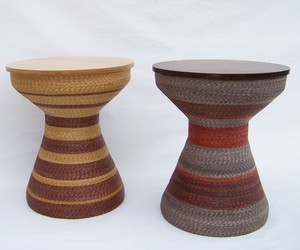 Copa Grande, Handsewn Wheat Straw Side Tables