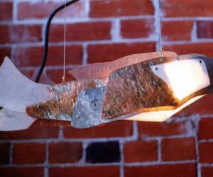Copper and Lumasite fish pendant by Arch11