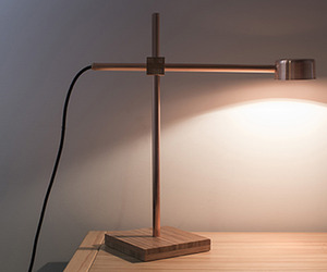 copper Blond lamp by Joska & Sons