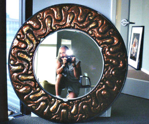 Copper Repousse Mirror Frame