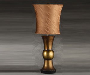 Copper storm table lamp