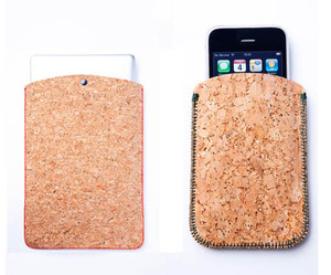 Cork Laptop and iPhone Sleeves by Ryan Frank