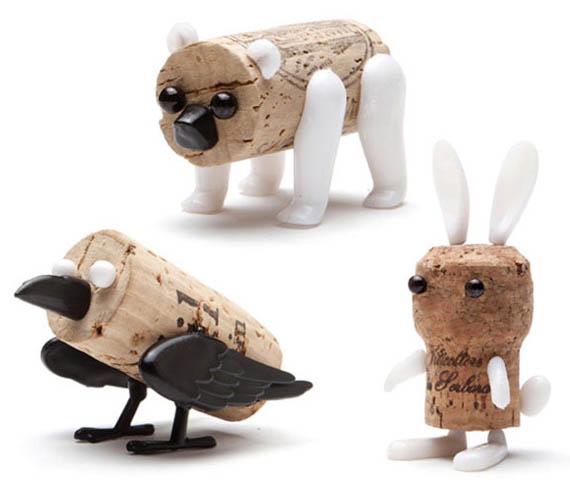 Cork Animals: Corkers Pushpin Cork Creatures