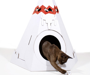 Corrugated Cardboard Teepee Pet House
