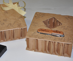 Corrugated Gift Boxes by Michael Blaustein