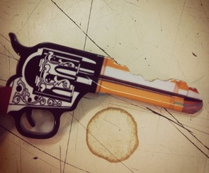 Cowboy Six-Shooter Door Key