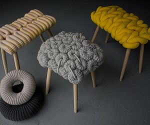 Cozy knitted chairs