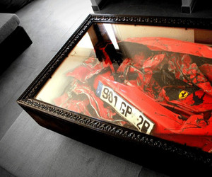 Crashed Ferrari Coffee Table by Molinelli Designs