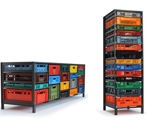 Crates Cabinet by Mark Van Der Gronden
