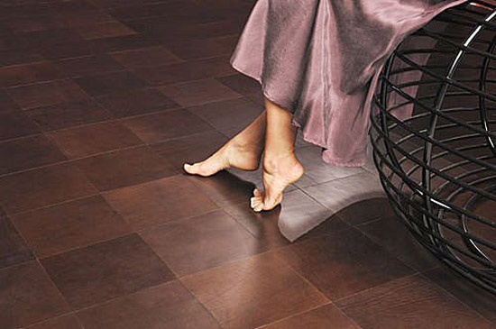 Creative Decorative Leather Flooring And Wall Tile Floor