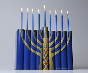 Creative Hanukah Menorah Made From Books