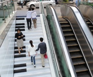 Creative Piano Stairs for Pedestrians in Hangzhou, China