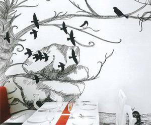 Creative Wall Fabric At Spaghetti House Hong Kong