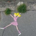 Creatively Placed Art on Streets
