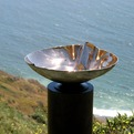Crenelated Bronze Vessel Sink,with mirror polish and patina