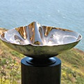 Crenelated Silicon Bronze Vessel Sink,with mirror polish