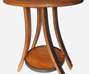 Cricket Recycled Oak Wine Barrel End Table