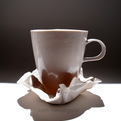 Crinkled Porcelain Saucer by John Newdigate