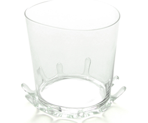 Crown: Splashing Liquid Shape Glass Coasters