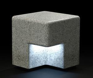 Cube bench and lighting by Kim HyunJoo