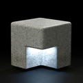 Cube bench and lighting by Kim HyunJoo