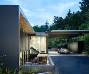 Cube of Wooden House  by Doss and Chadbourne Architects