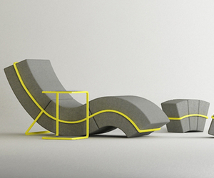 Curve Frame Sofa Set